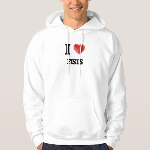 I love Fists Hooded Sweatshirt