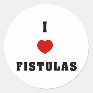 I Love Fistulas Classic Round Sticker