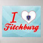 I Love Fitchburg, Massachusetts Print