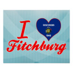 I Love Fitchburg, Wisconsin Posters