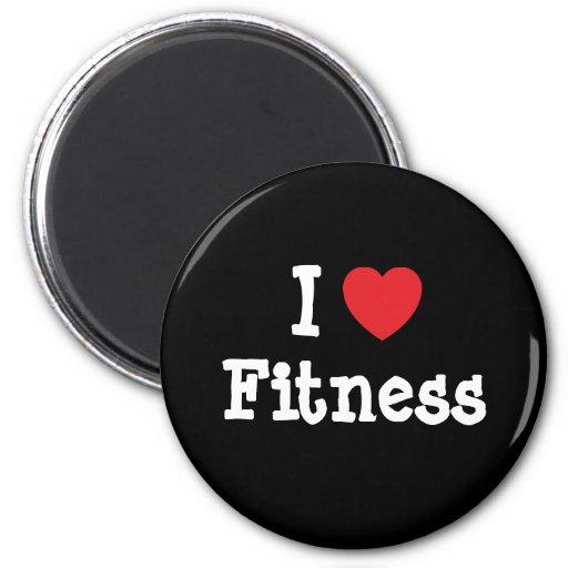 I love Fitness heart custom personalized Refrigerator Magnet