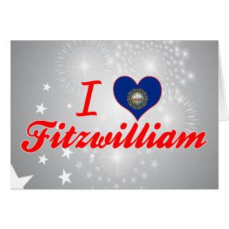 I Love Fitzwilliam, New Hampshire Greeting Card