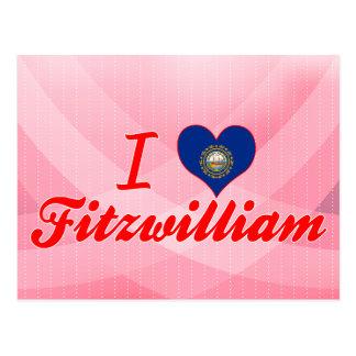 I Love Fitzwilliam, New Hampshire Postcard