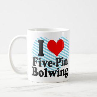 I love Five-Pin Bolwing Classic White Coffee Mug