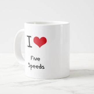 I Love Five Speeds 20 Oz Large Ceramic Coffee Mug