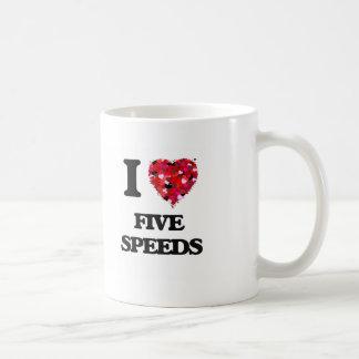 I Love Five Speeds Classic White Coffee Mug
