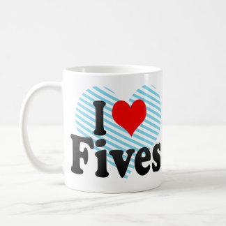 I love Fives Classic White Coffee Mug