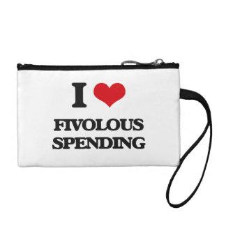 i LOVE fIVOLOUS sPENDING Coin Purses