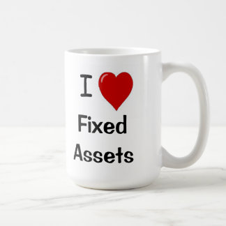I Love Fixed Assets - I Heart Fixed assets Classic White Coffee Mug
