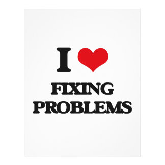"""i LOVE fIXING pROBLEMS 8.5"""" X 11"""" Flyer"""
