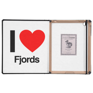 i love fjords iPad cases