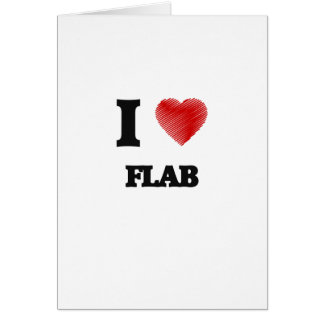 I love Flab Card