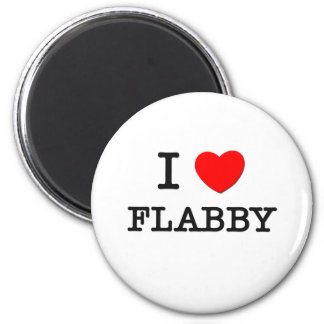 I Love Flabby 2 Inch Round Magnet