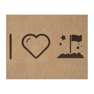 I Love Flag Shinnings Cork Paper