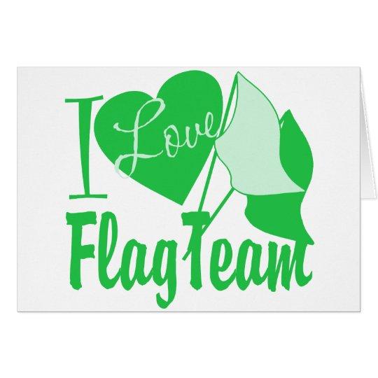 I Love Flag Team Green Card
