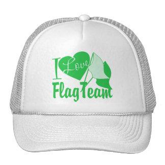 I Love Flag Team Green Trucker Hat
