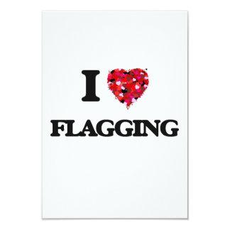 I Love Flagging 3.5x5 Paper Invitation Card