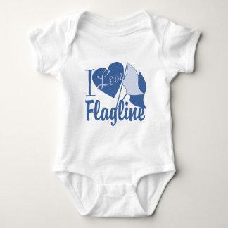 I Love Flagline Baby Bodysuit