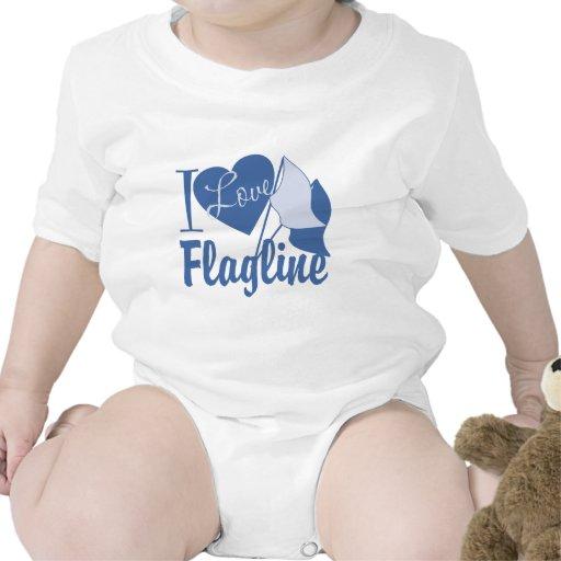 I Love Flagline Baby Creeper