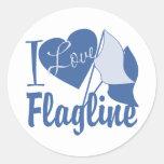 I Love Flagline Classic Round Sticker