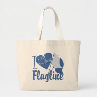 I Love Flagline Large Tote Bag