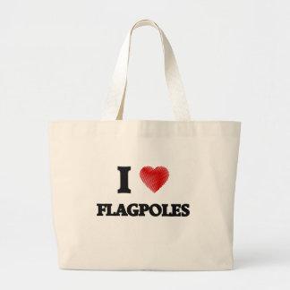 I love Flagpoles Large Tote Bag