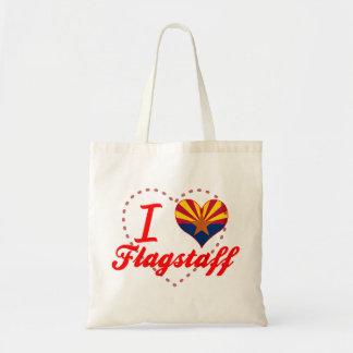 I Love Flagstaff, Arizona Tote Bags