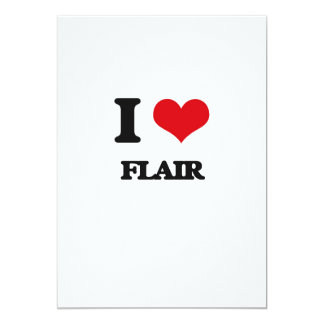 i LOVE fLAIR 5x7 Paper Invitation Card