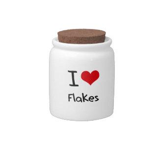 I Love Flakes Candy Jar