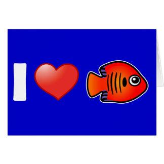 I Love Flame Angelfish Card