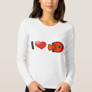 I Love Flame Angelfish T Shirt