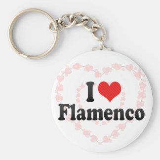I Love Flamenco Basic Round Button Keychain