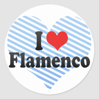 I Love Flamenco Classic Round Sticker