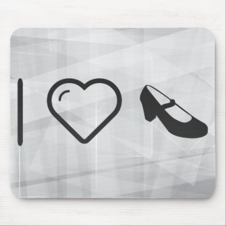 I Love Flamenco Foots Mouse Pad