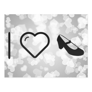 I Love Flamenco Foots Postcard