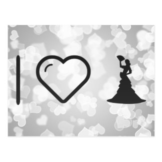 I Love Flamenco Girls Postcard