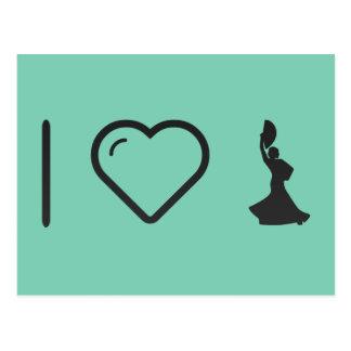 I Love Flamenco Plays Postcard