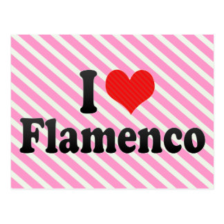 I Love Flamenco Postcard