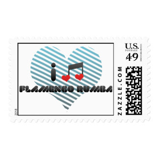I Love Flamenco Rumba Stamp