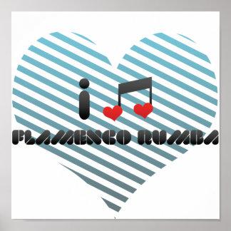 I Love Flamenco Rumba Print