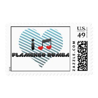 I Love Flamenco Rumba Stamps