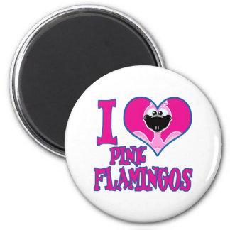I Love flamingos 2 Inch Round Magnet