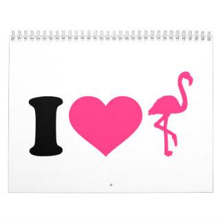 I love flamingos calendar