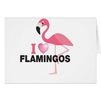 i love flamingos card