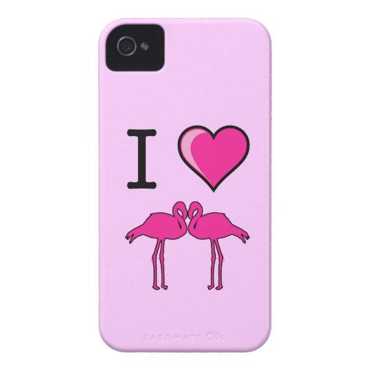 I Love Flamingos Case