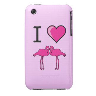I Love Flamingos Case iPhone 3 Case-Mate Cases