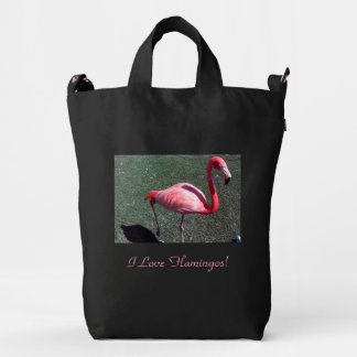 I Love Flamingos! Duck Canvas Bag