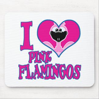 I Love flamingos Mouse Pad