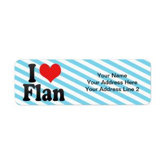 I Love Flan Label