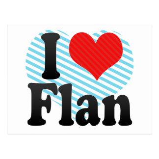 I Love Flan Postcard